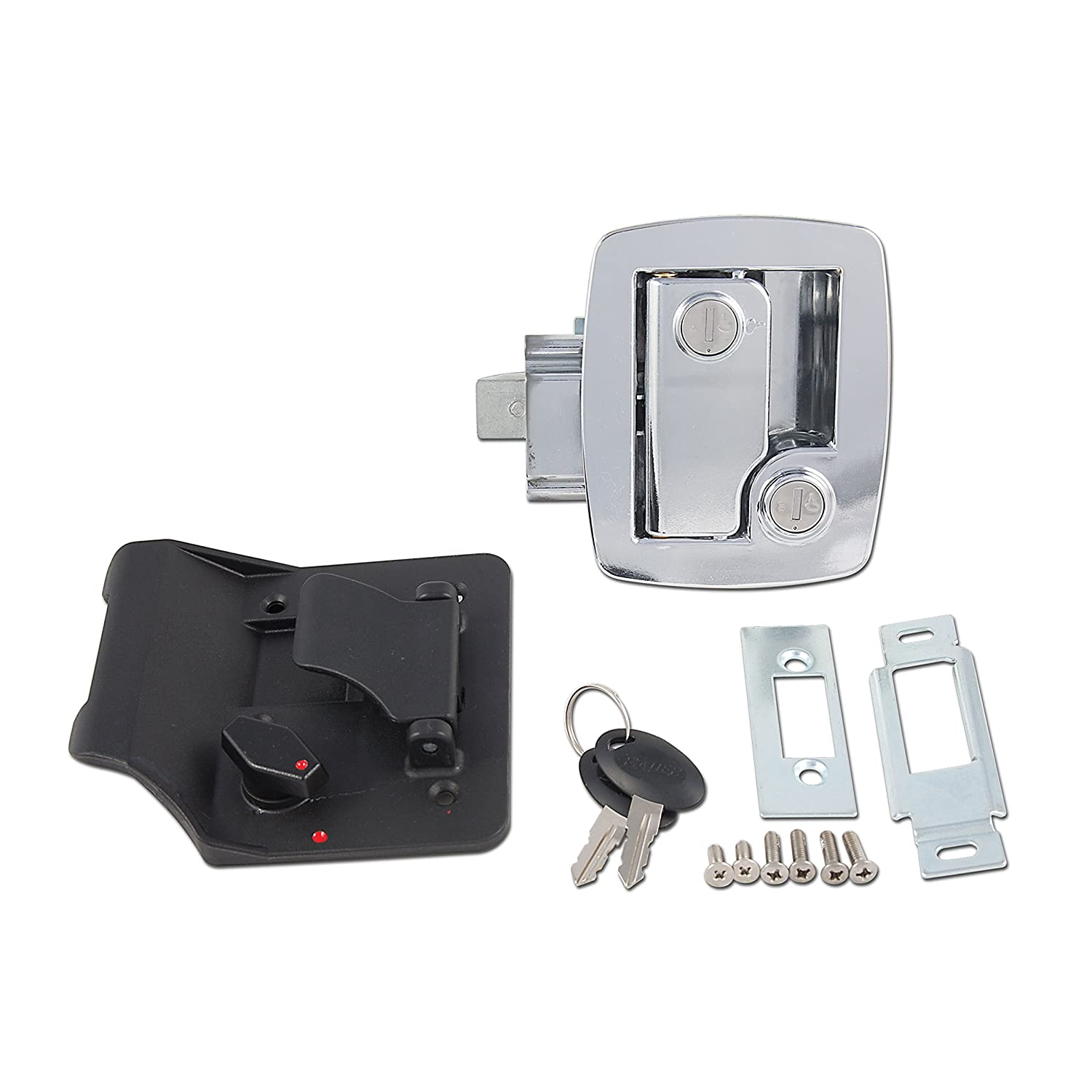 AP Products 013-535 Bauer RV Entry Door Lock, Chrome