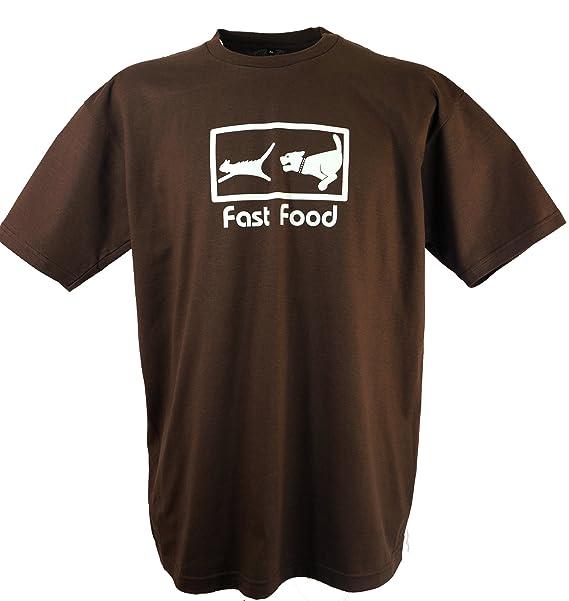 GURU-SHOP Camiseta de La Diversión `Fast Food`, Algodón, Camisetas Impresas: Amazon.es: Ropa y accesorios