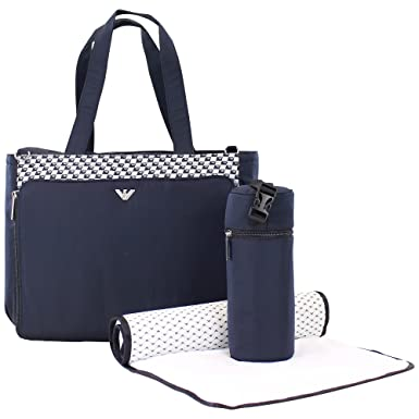 a0a198b7d341 Armani Baby Changing Bag Navy O S  Amazon.co.uk  Clothing