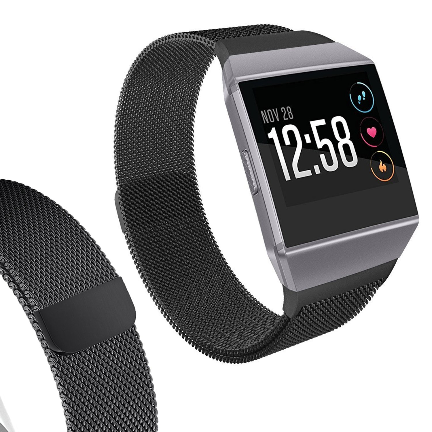 Amazon.com: I-SMILE Fitbit Ionic Smartwatch Bands, Milanese ...