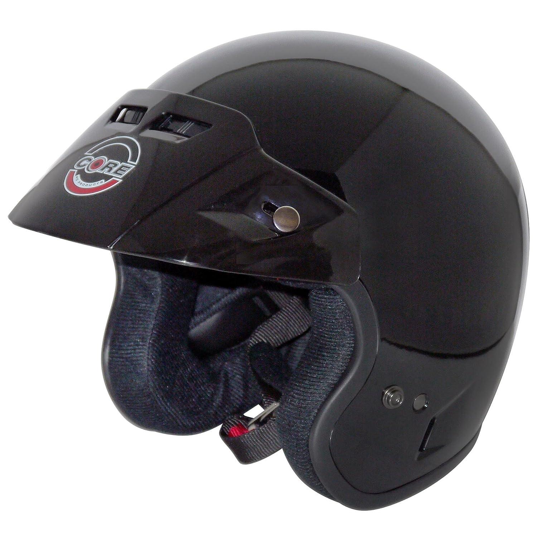 Core Tourer Open-Face Helmet Gloss Black, X-Large