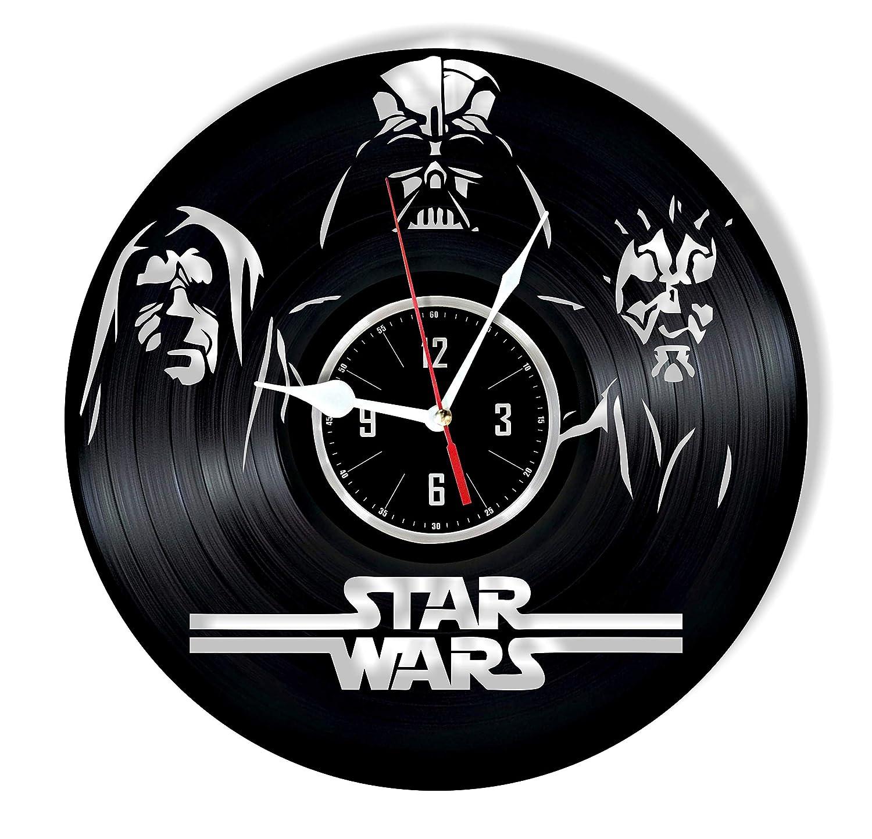 HMGift Star Wars - Reloj de Pared de Vinilo - Gran Regalo ...