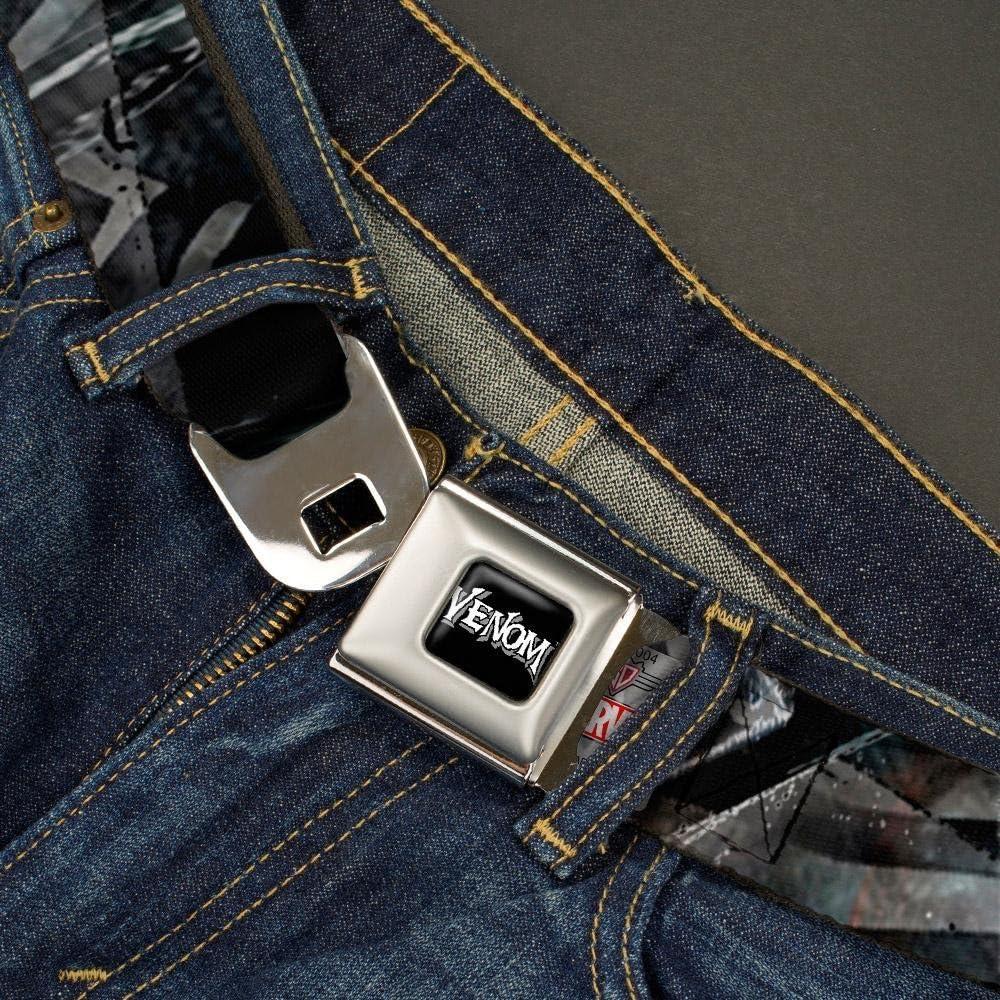 Buckle-Down Seatbelt Belt 1.0 Wide VENOM Expression C//U Repeat 20-36 Inches in Length