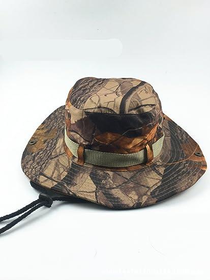 06beb736551 Amazon.com   Cobrave Adults Camo Boonie Bucket Hat Double Layer Hat ...