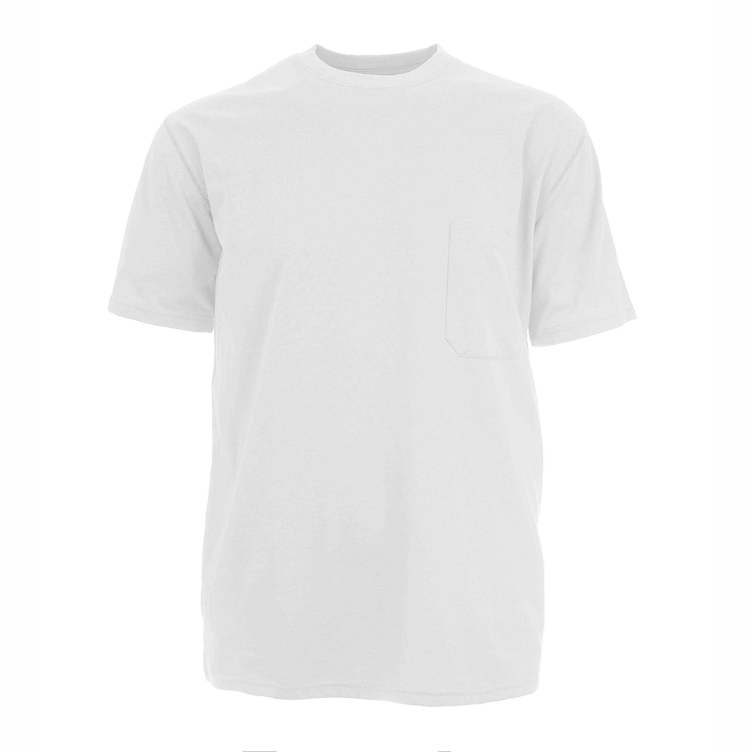 Insect Shield Men's UPF Dri-Balance Short Sleeve Pocket Tee, White, X-Large by Insect Shield