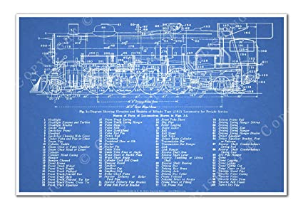 Awesome Amazon Com C B Gitty 2 8 2 Mikado Steam Locomotive Blueprint Wiring Database Gramgelartorg