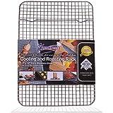 KITCHENATICS Quarter Sheet 100% Stainless Steel Roasting & Cooling Rack, 1/4 Sheet Rust Proof Rack with Patent-Pending Multip