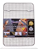 """Kitchenatics 100% Stainless Steel Wire Cooling and Roasting Rack Fits Quarter Sheet Size Baking Pan, Oven Safe, Commercial Quality, Heavy Duty for Roasting, Drying, Grilling (8.5"""" X 12"""")"""