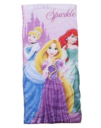 Disney - Saco de dormir infantil, diseño de princesas