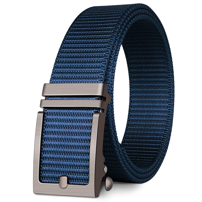 Ratchet Belt//No Holes Full Adjustable Web Belt for Men Fairwin Nylon Web Belts Women and Boys