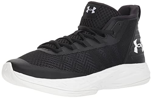 3311d004be998 Amazon.com   Under Armour Men s Jet Mid Basketball Shoe, Black Steel ...