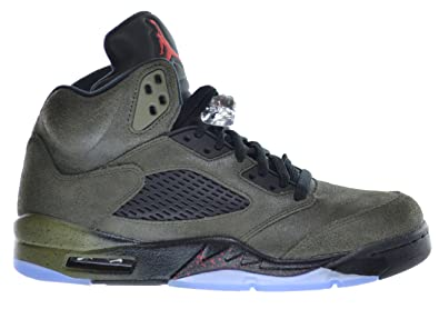 aa2217b263d0 Jordan Air 5 Retro Fear Men s Basketball Shoes Sequoia Fire Red-Medium Olive -