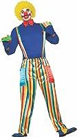 Forum Men's Carnival Clown Costume with Rainbow Pants