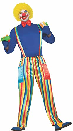 5e1c6f5c728 Amazon.com  Forum 78656 Men s Carnival Clown Costume With Rainbow ...