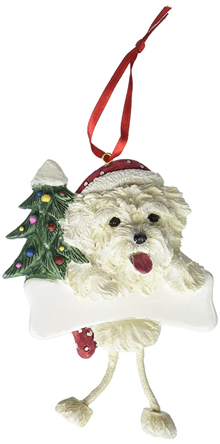 Image Unavailable. Image not available for. Color  Maltese Puppy Ornament  ... 63311ddd7