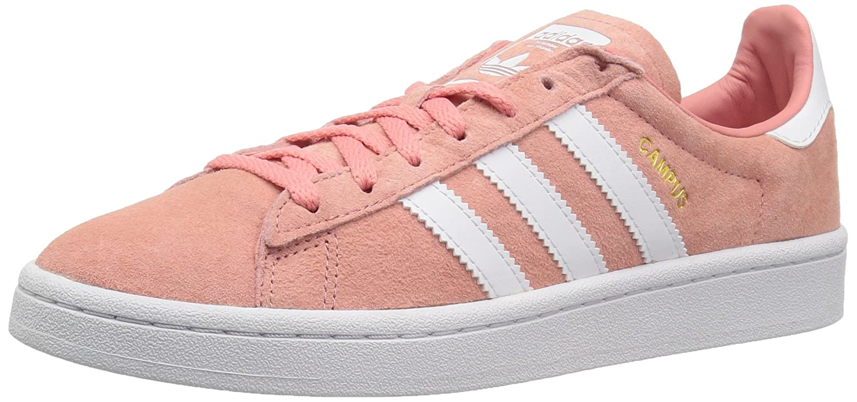 adidas Originals Women's Campus Sneaker B077X8R4TC 10 B(M) US|Tactile Rose/White/Crystal White