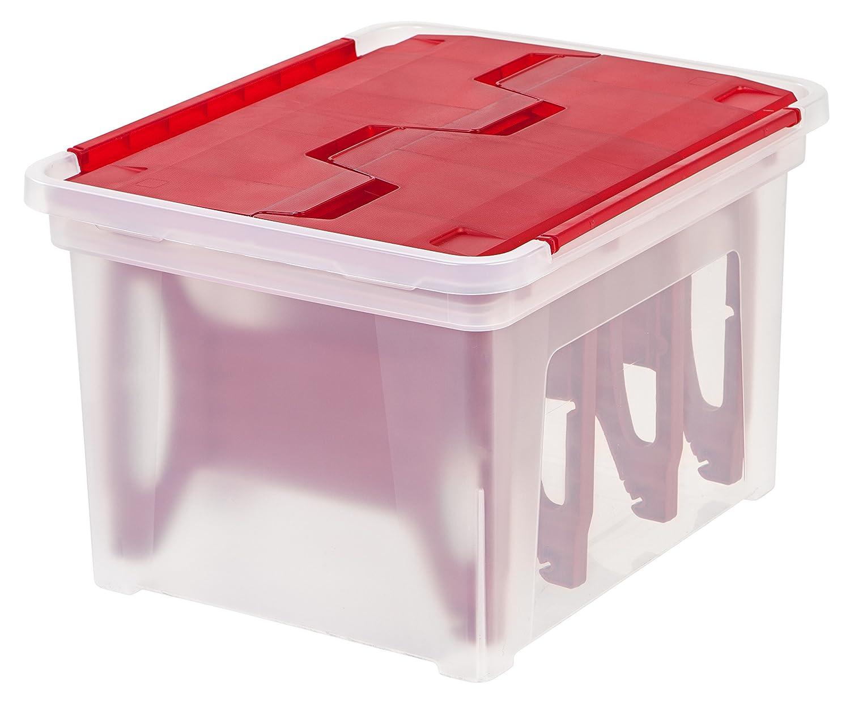 IRIS Wing Lid Storage Box with 4 Light Wraps, Red IRIS USA Inc. 139591