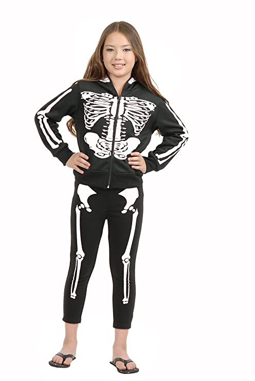 b7e5759452b85 Image Unavailable. Image not available for. Color: Charades Skeleton  Children's Costume Leggings, Medium/Large