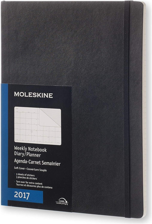 Moleskine 2017 Agenda Mensile Con Spazio Per Note, Extra Large, 12 Mesi, Copertina Morbida, Nero