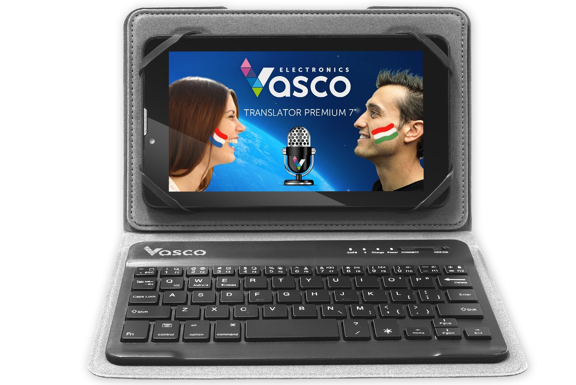 Vasco Translator Premium 7'' + Keyboard: Electronic Voice Translator with Comfortable Keyboard
