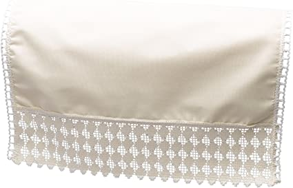 Cream Chairback 2 3 Seater Settee Back Cotton Lace Trim Antimacassar Sofa Cover