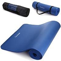 Read aeer® Fitness Matte Yogini per ginnastica yoga Pilates 183 x 61 x 1,0 cm con tasche e tracolla, rosso vivo