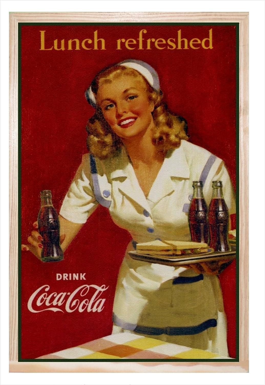 Ccretroiluminados Coca-Cola Lunch Refreshed Cartel Vintage ...