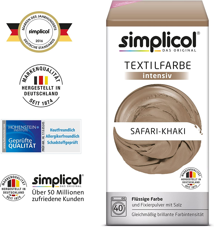 Simplicol Kit de Tinte Textile Dye Intensive Beige: Colorante para ...