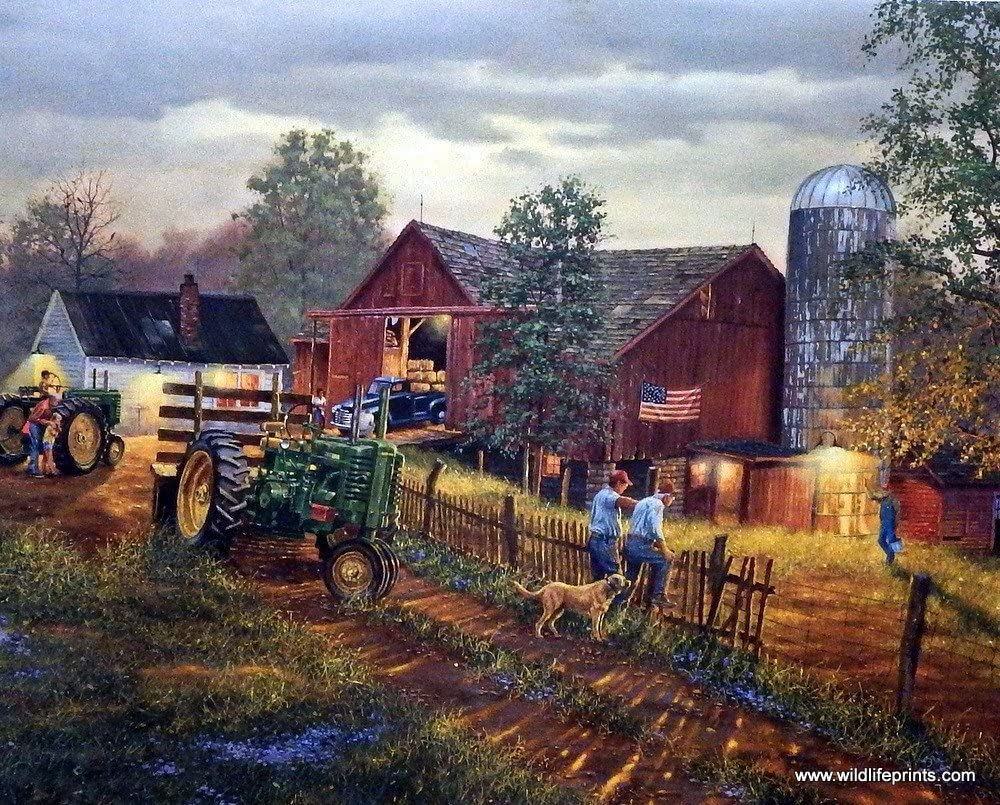 Dave Barnhouse Old Time farm print-ONCE IN A LIFETIME