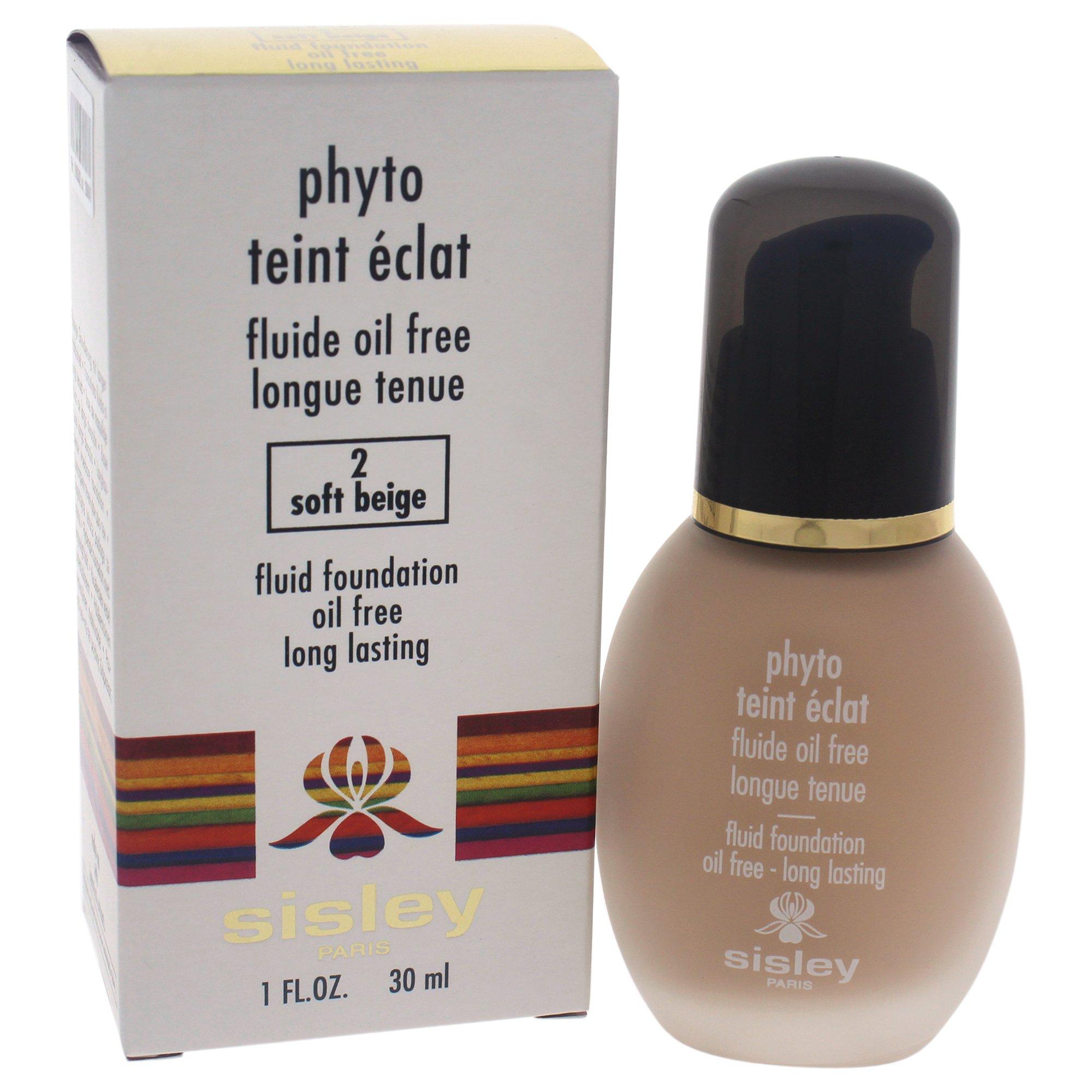 Sisley Oil Free Fluid Foundation, 2 Soft Beige, Phyto, 1 Ounce