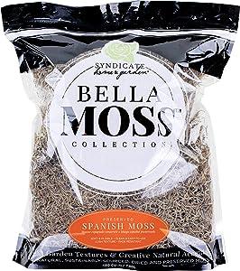Bella Moss 1413101082 Preserved Spanish Bulk Moss, Natural