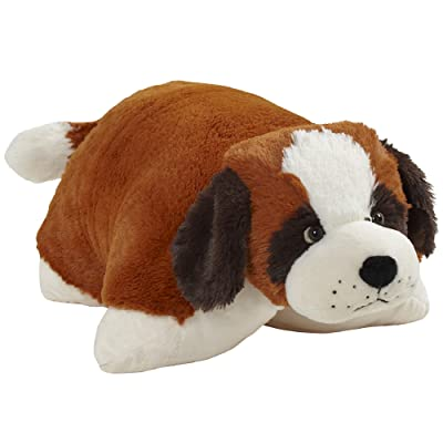 "Pillow Pets Originals St. Bernard 18"" Stuffed Animal Plush Toy: Toys & Games"
