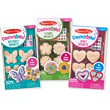 Melissa & Doug Created by Me! Paint & Decorate Your Own Wooden Magnets Craft Kit for Kids 3 Pack – Butterflies, Hearts, Flowers (4 Each Set)