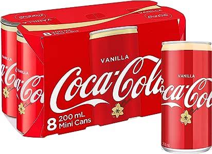Coca-Cola Vanilla Soft Drink Mini Cans 8 x 200mL