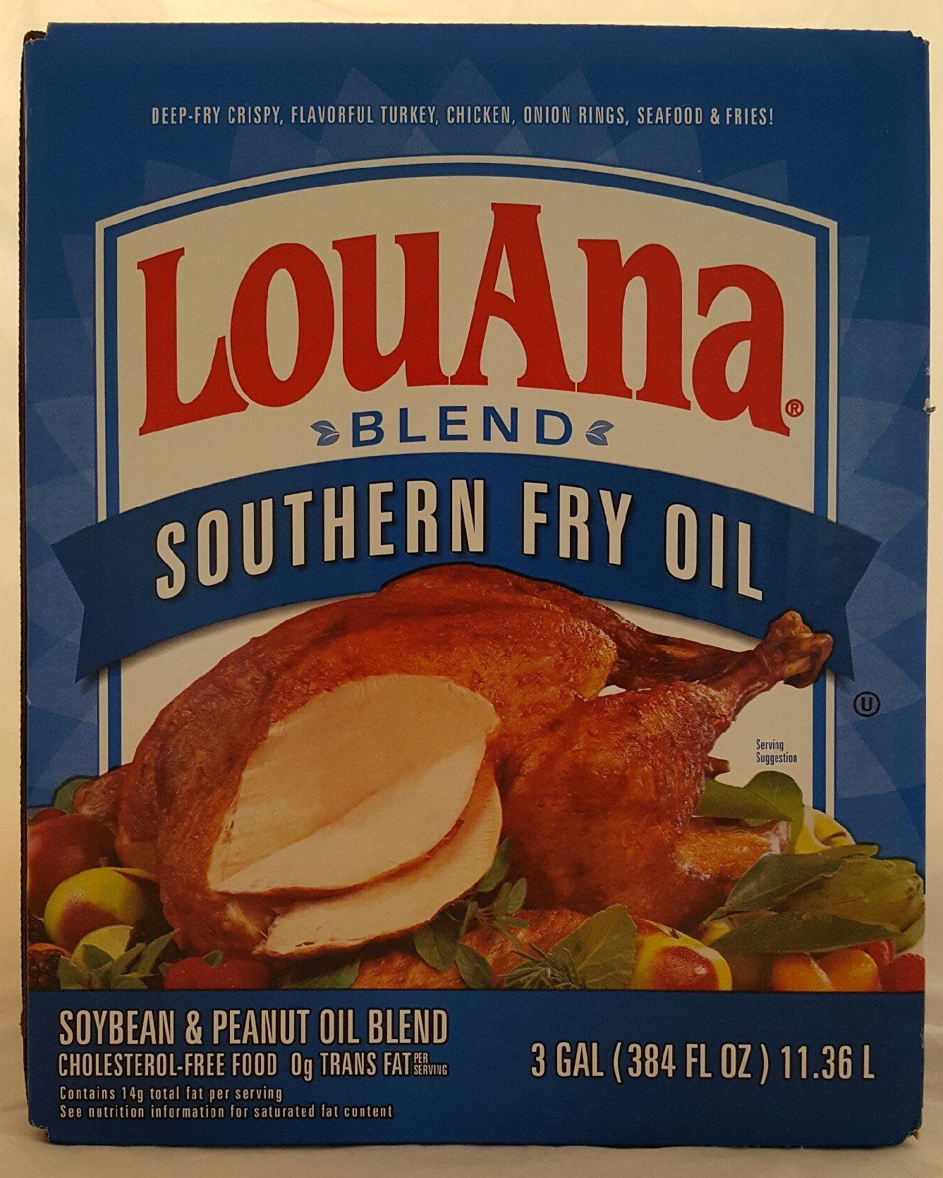 LouAna Peanut Frying Oil Blend for Deep Frying Turkey, 3