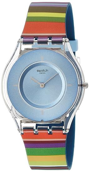 Swatch Reloj Digital para Mujer de Cuarzo con Correa en Silicona SFE107: Amazon.es: Relojes