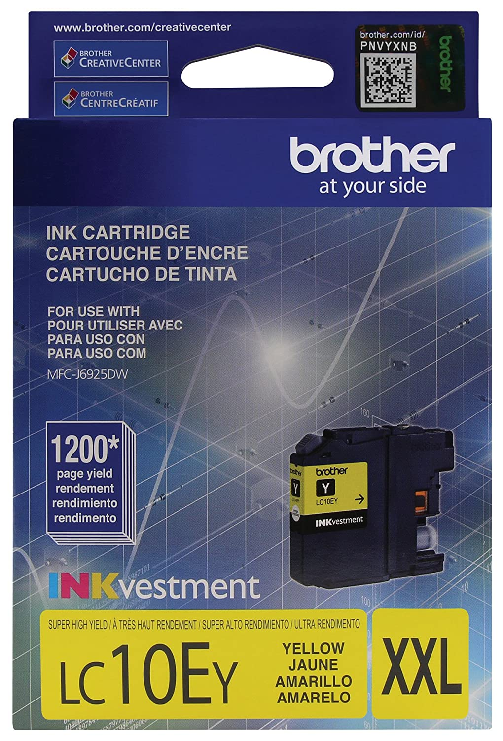 Brother Printer LC10EY Super High Yield Yellow Ink Cartridge