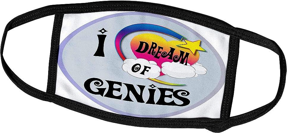 3dRose Face Mask Medium, Cute Girly Heart Star Clouds I Dream of Genies