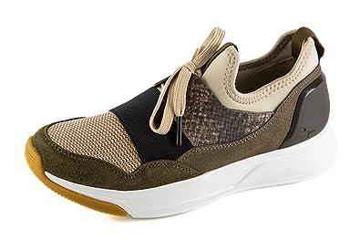 Tamaris Damen Sneaker Low Grün Gr. 37: : Schuhe