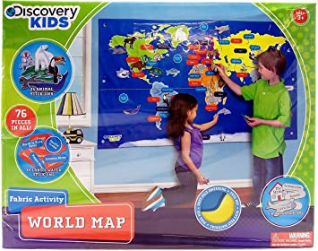 Amazon discovery kids a countivity world map toys games discovery kids a countivity world map gumiabroncs Images