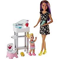Barbie Bebek Bakıcısı Bebeği ve Aksesuarları Oyun Seti (FJB01)