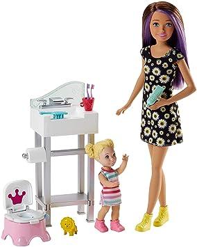 Amazon Es Barbie Muneca Skipper Hermana De Barbie Ninera En Cuarto