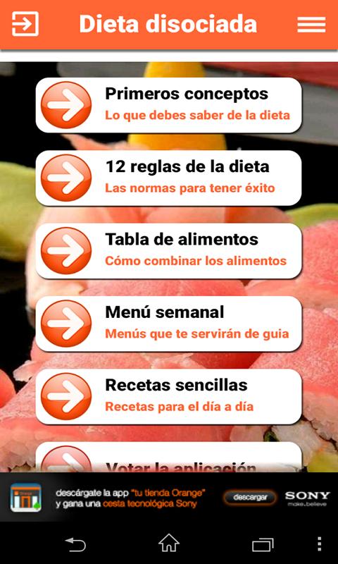 ejemplo de dieta disociada sencillard