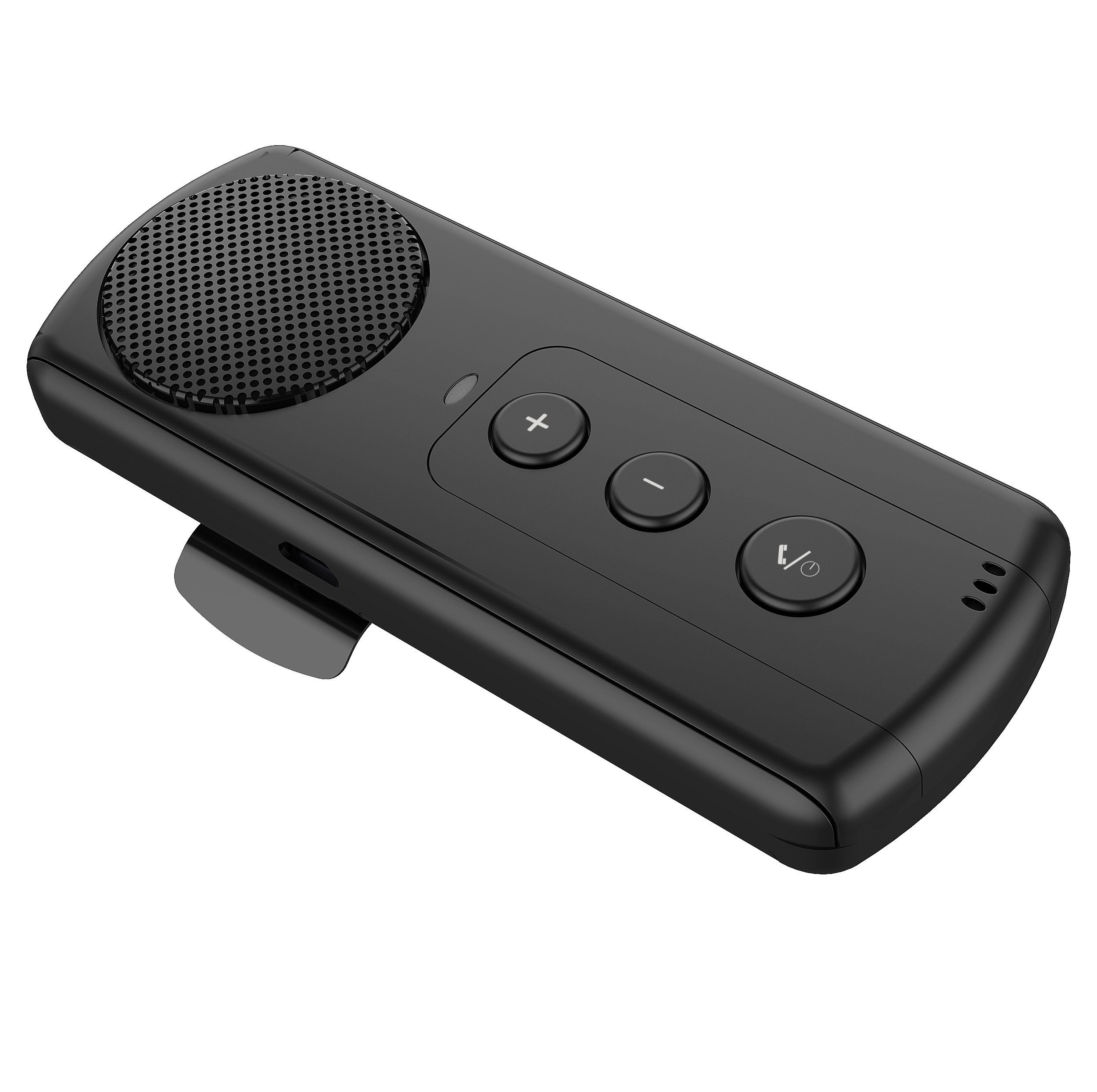 Bluetooth Hands Free Car Speakerphone, SUNITEC Bluetooth Visor Car Kit In-Car Phone Speaker Support GPS, Music and HandsFree Calling for iphone, Samsung and Smartphones[2 Year Warranty]