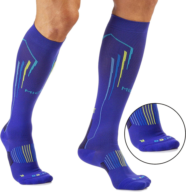 OXI-JET COMPRESSION per Woman//Donna Sportiva 100/% Made in Italy fibra LYCRA +ossigeno +recupero +energia in Colore Bluette MICO CALZE RUNNING LIGHT Lunghe in Maglia nylon