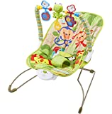 Teeny Fish Baby Bouncer Rocker - with Soothing Vibrations and Musical Box - Green