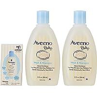Aveeno Baby Wash and Shampoo Twin Pack, 354ml (Pack of 2) + Daily Moisturizing Lotion, 29ml