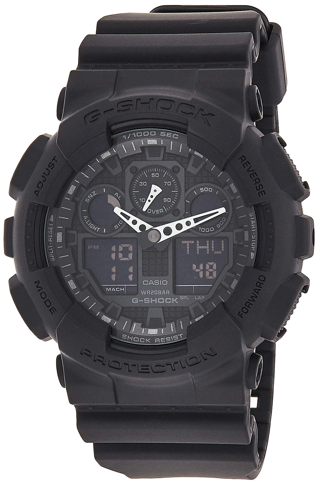 CDM product Casio Men's G-SHOCK - The GA 100-1A1 Military Series Watch in Black big image