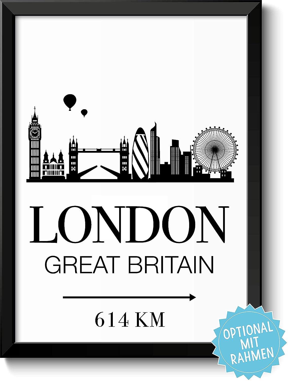 London Great Britain mit Entfernungsangabe: Amazon.de: Handmade
