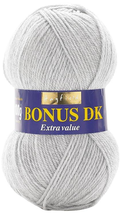 Hayfield - Lana de Tejido Doble Bonus DK (100 g), Hilo, Light Grey ...